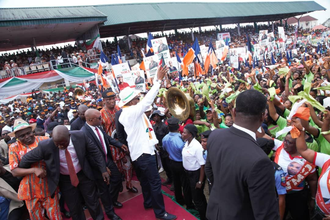 Gov. Udom Presents 8-Point Manifesto For 2019 During Campaign Flag off